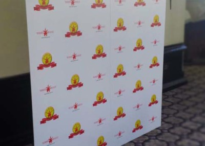 Printed Step and Repeat w/ Custom Frame
