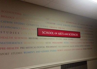 Digitally Printed Vinyl Wall Lettering w/ Raised Panel