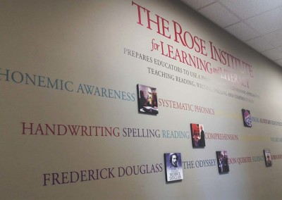 Digitally Printed Vinyl Wall Lettering w/ Raised Photo Panels