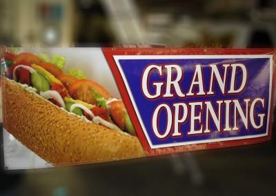 Vinyl Grand Opening Banner