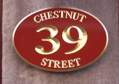 Carved Address Sign