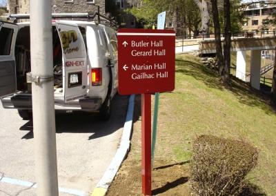 Post Mounted Aluminum Sign