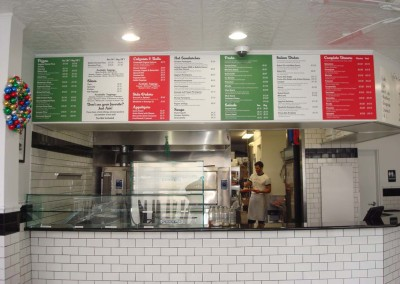 Digitally Printed PVC Menu Boards