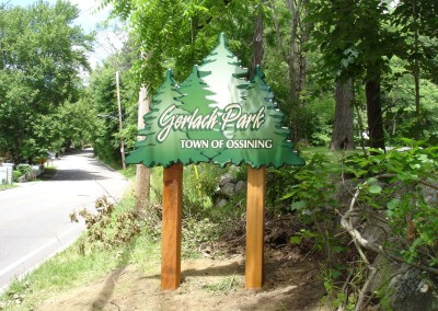 Custom Carved Sign w/ Cedar Posts