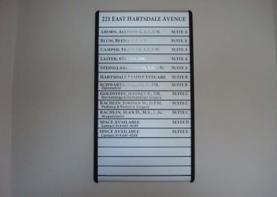 Aluminum Directory Sign