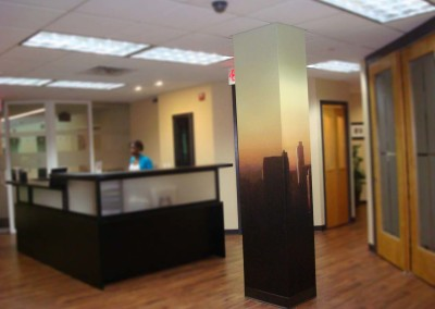 Printed Column Wrap of Cityline