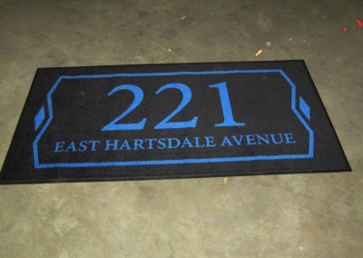 Custom Woven Address Floor Mat