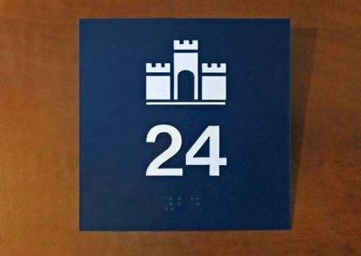 ADA Compliant Laser Engraved Sign w/ Tactile Lettering and Braille