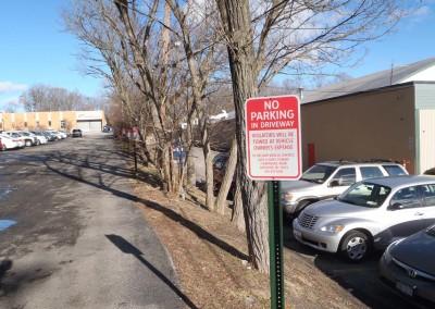 Aluminum No Parking Sign w/ U Channel Post