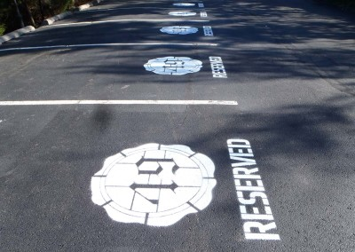 Parking Lot Lettering & Logos