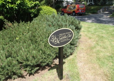 Post Mounted Oval Aluminum Sign