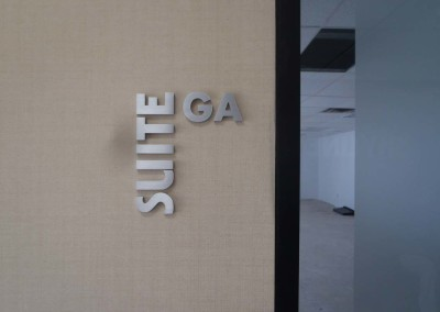 Brushed Aluminum Pin Lettering